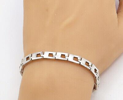 GUCCI 925 Sterling Silver - Vintage Minimalist G Link Chain Bracelet - B7956