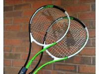 Two Slazenger tennis racquets