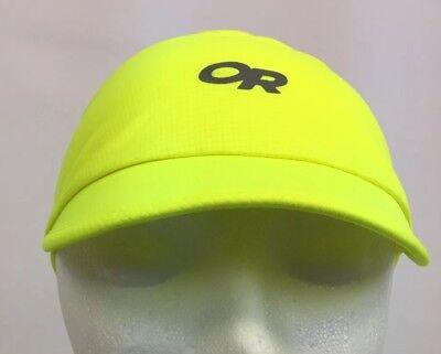 Outdoor Research Echo Vis Visor Jolt Hi Vis Yellow Reflective Logos One Size -