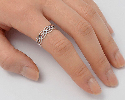 USA Seller Celtic Ring Sterling Silver 925 Best Deal Jewelry Gift Size 14
