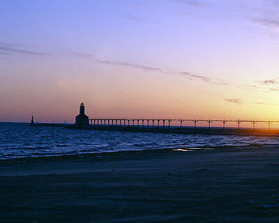 Michigan City East Light breakwater lighthouse Michigan City Indiana Photo (Lighthouse Michigan City)
