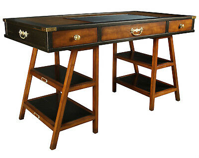 Navigators Office Desk Black 56 Wooden Authentic Models Nautical Furniture New