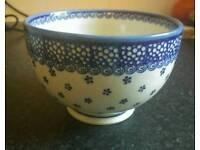 Polish pottery bowls