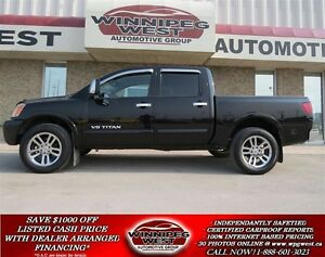 2011 Nissan Titan Black SL Crew 4x4, Leather, Sunroof, DVD, Nav,