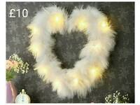 LED Feather Heart (brand new)