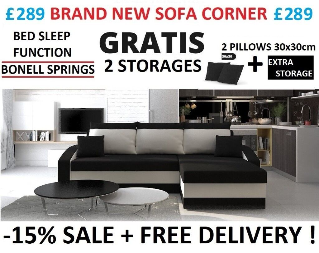 New Sofa Corner Bed Sleep Function Bonnell Springs 24h Free Del  ~ Where To Buy Sofa Springs