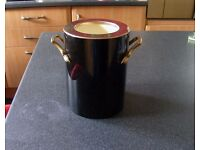 Wine Cooler Black and Gold Now Collectable