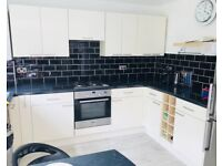 Cream gloss kitchen and worktop for sale