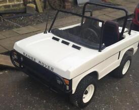 Totrod toylander petrol Range Rover from harrods go kart