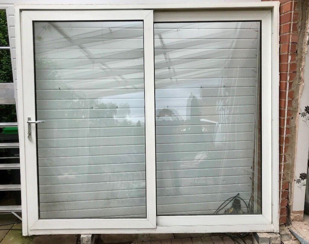 Patio Doors Slide 2400mm W X 2140 H Good Condition Strong German