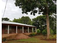 To Rent: A 3 bedroom farmhouse on a beautiful farm in Gologota (Thondwe). Short commute to Zomba.