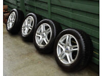 4 x Alloy Wheels and Winter Tyres For Ford Focus