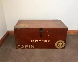 WW2 Wooden Travel Trunk with markings