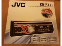 JVC KD-R411 Car Stereo with Front Aux Input and USB port Plays CD and MP3 £35 ONO