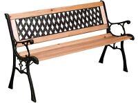 Garden Wooden Bench Windsor Metal and Hardwood Made of metal, hardwood