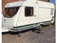 2003 lunar chateau 4 berth caravan fixed bed and motor mover