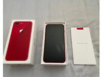 Apple iPhone 8 Plus - RED 64GB Unlocked - Pristine Condition with Original Box