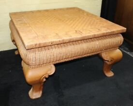 Heavy Square Rattan Conservatory Coffee Table