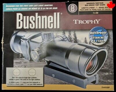 Bushnell 1x32 Trophy Waterproof & Fogproof Riflescope with Red/Green T D - 002