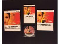 Jasc PAINT SHOP PRO 7 ANNIVERSARY EDITION FOR WINDOWS XP PLUS IDIOTS GUIDE BOOK £10
