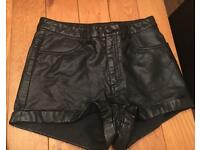 Women's H&M Leather shorts, size 10