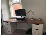 IKEA Desk (KARLBY Worktop & ALEX Drawers)