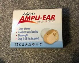 Micro Ampli-Ear Hearing Device - new