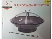 """el Fuego"" Garden Fire Pit Firepit / Barbecue - new and boxed"