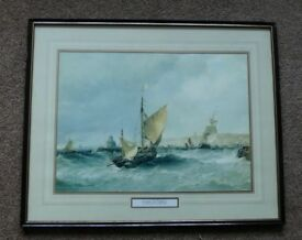 Framed and Glazed Print - Entering the Harbour by Edwin Hayes (1820-1904)