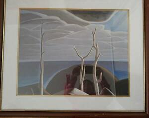 "LAWREN HARRIS FRAMED ART PRINT - 24X28""  LAKE SUPERIOR Canada Group of Seven - Oakville 905 510-8720"