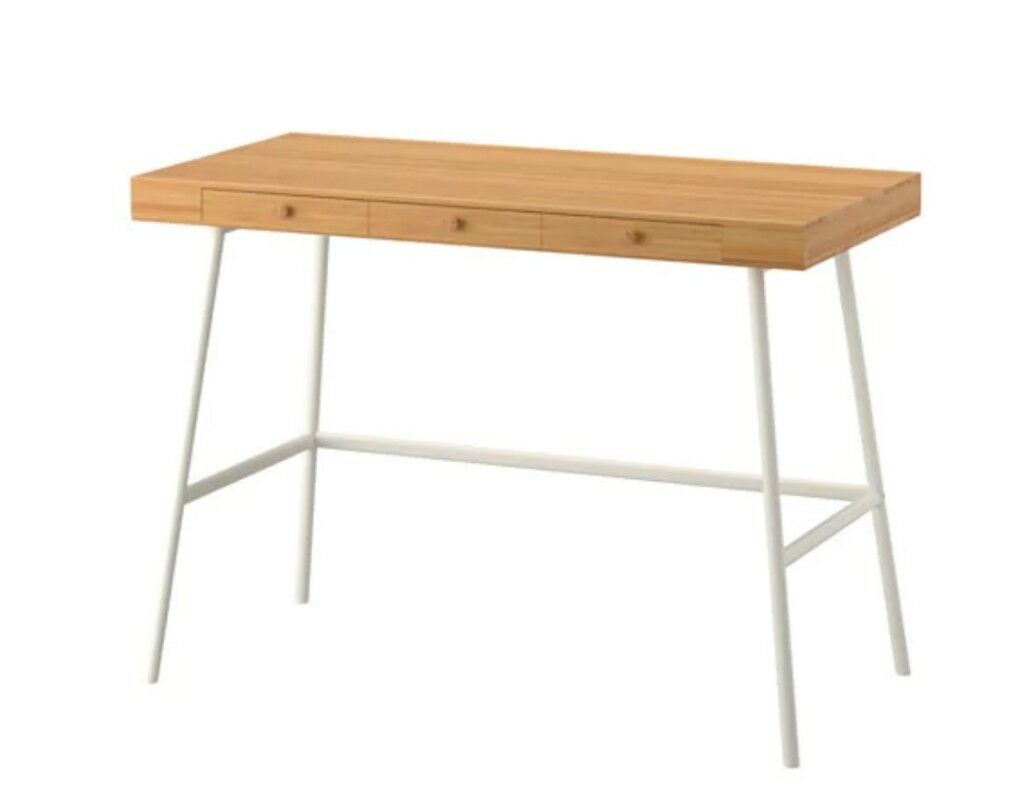 Lillasen bamboo desk from ikea very very lightly used in
