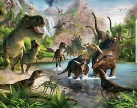 Full kids dinosaur bedroom setup