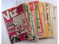 Job Lot of 34 x VIZ Comic Magazines - Issues 35-38, 40-41, 43, 46-70, 76 & 82 - Dated 1989-1997