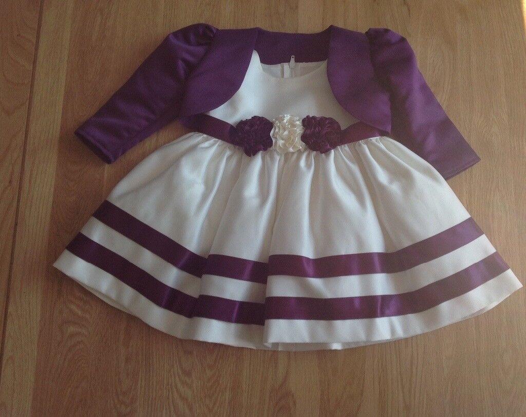 Girls Pretty Occasion Dress & Matching Balero Jacket - Age 6 Months