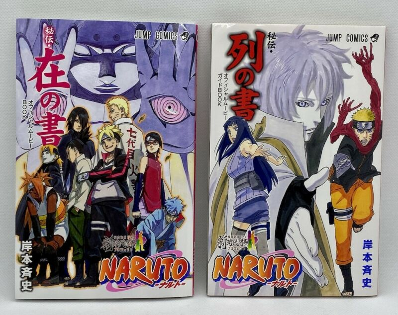NARUTO Hiden (Retsu no Sho & Zai no shyo) The Last Official Movie Guide Art Book