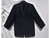 Ladies Smart Black Swede Effect Formal Suit Jacket C50""