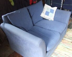 Lovely little blue settee - needs good home!