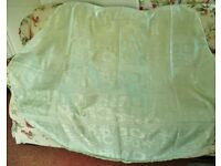 Mint Green Shimmery Floral 170cm Round / Circular Tablecloth / Table Cloth / Tableware