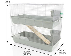 Indoor Rabbit Hutch. 120cm long. Double Tier. NEW!