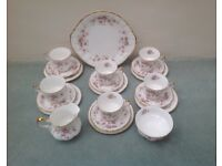 "Paragon tea set "" Victorian Rose"" 21 piece"