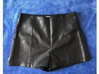 Missguided leather shorts size 10