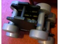 Two pairs of small dumbbells