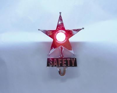 CHEVY FORD Red Dot Vintage Safety Star Lighted License Plate Topper,Bomber Sled