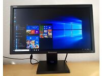"Lenovo ThinkVision 21.5"" Full HD 1080p LED Backlit Monitor,VGA+DVI,for pc computer/cctv etc..."