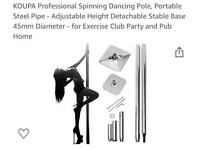 Spinning dancing pole