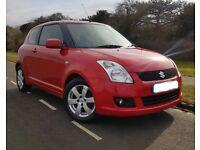 Fantastic Red Suzuki Swift 2008 1.5 GLX 3 Door - Full Service History & Low Mileage - £2400 ONO
