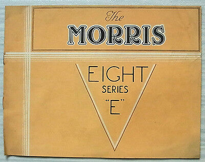 MORRIS EIGHT SERIES E Car Sales Brochure March 1946 TWO & FOUR DOOR SALOONS