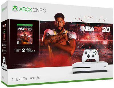 Microsoft Xbox One S 1TB Console - NBA 2K20 Bundle - White