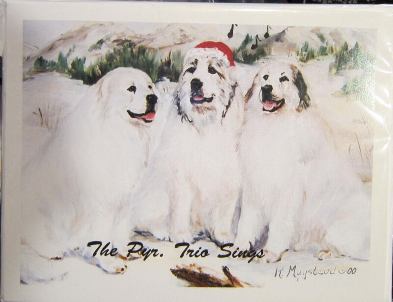 Eight Card Pack GREAT PYRENEES Dog Breed Christmas Cards