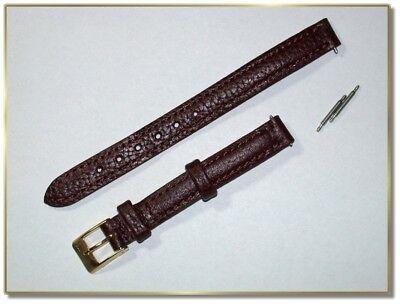 schmales echt Lederuhrenarmband braun, 10mm breit, 2,5mm dick, (2148)